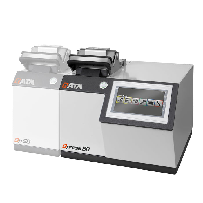 Qpress 50-2 mounting press with base unit and 1 pressing station