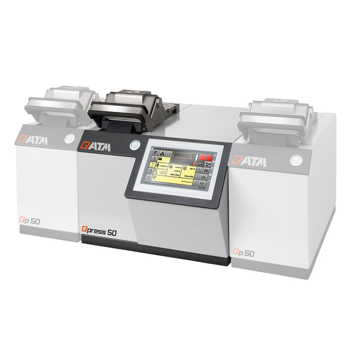 Qpress 50-4 Mounting Press with base unit and 2 pressing stations