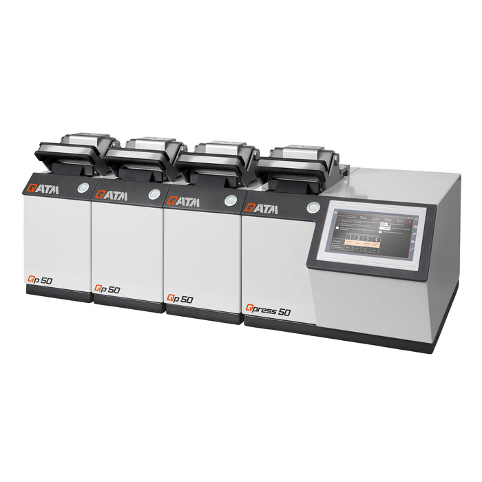 QATM Qpress 50-4 with base unit and 3 modular pressing stations