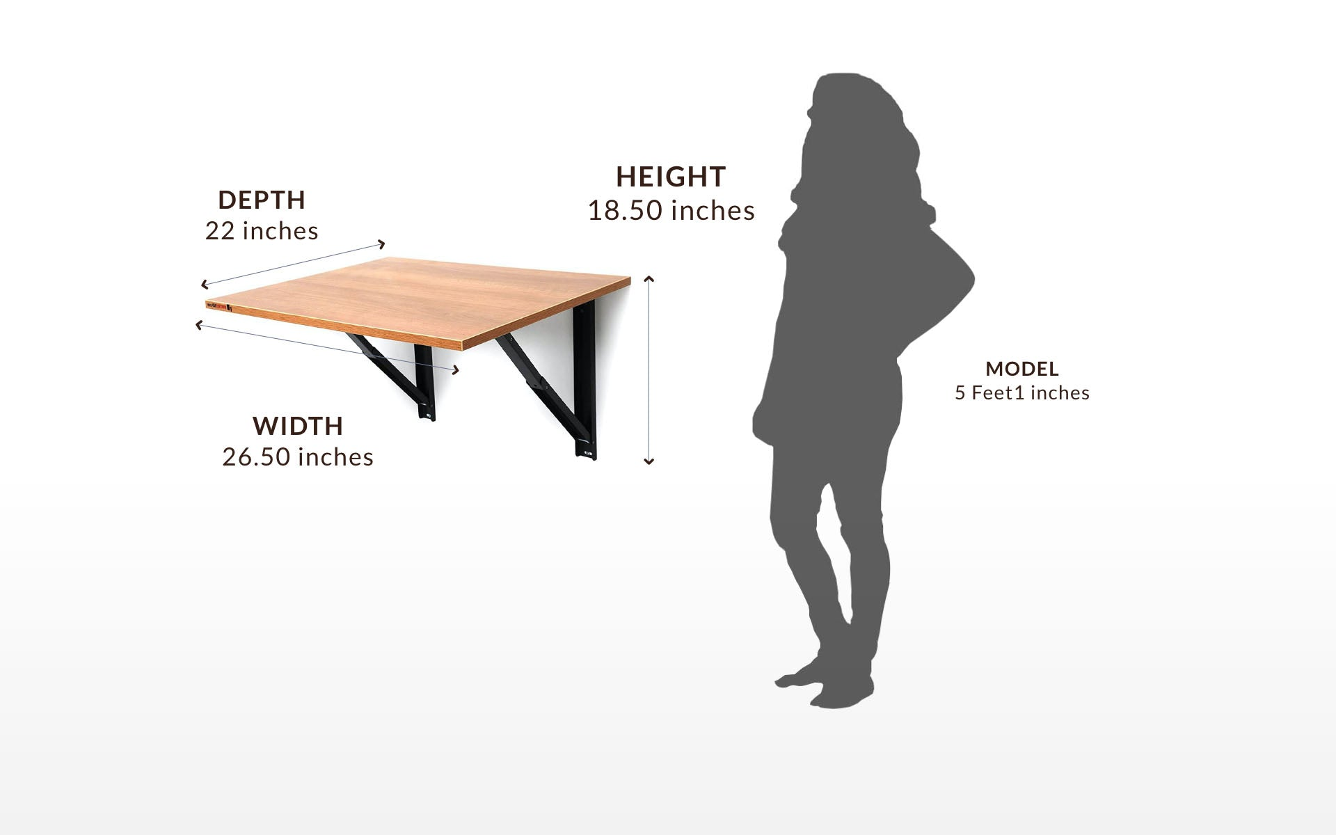 iDesk Medium for Study, Office, Kitchen, Lift Top Table