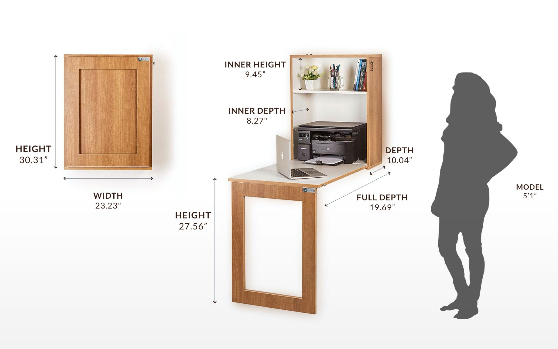iTable Wall Mounted for Study, Office, Kitchen, Extendable table