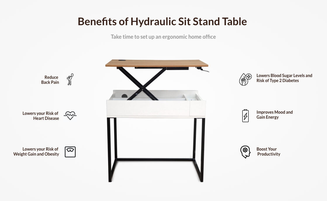 Hydraulic Sit Stand Table