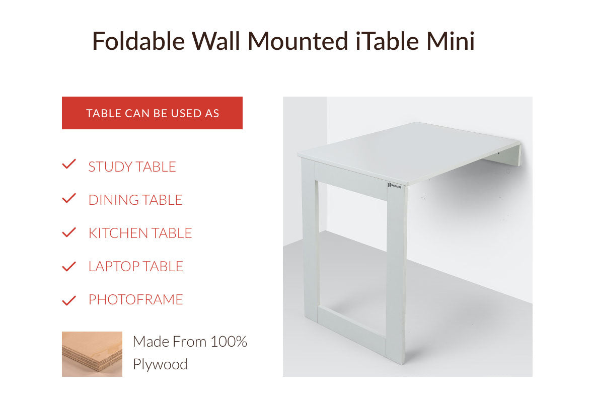 Combo Of Wall Mounted iTable Mini And Folding Chair