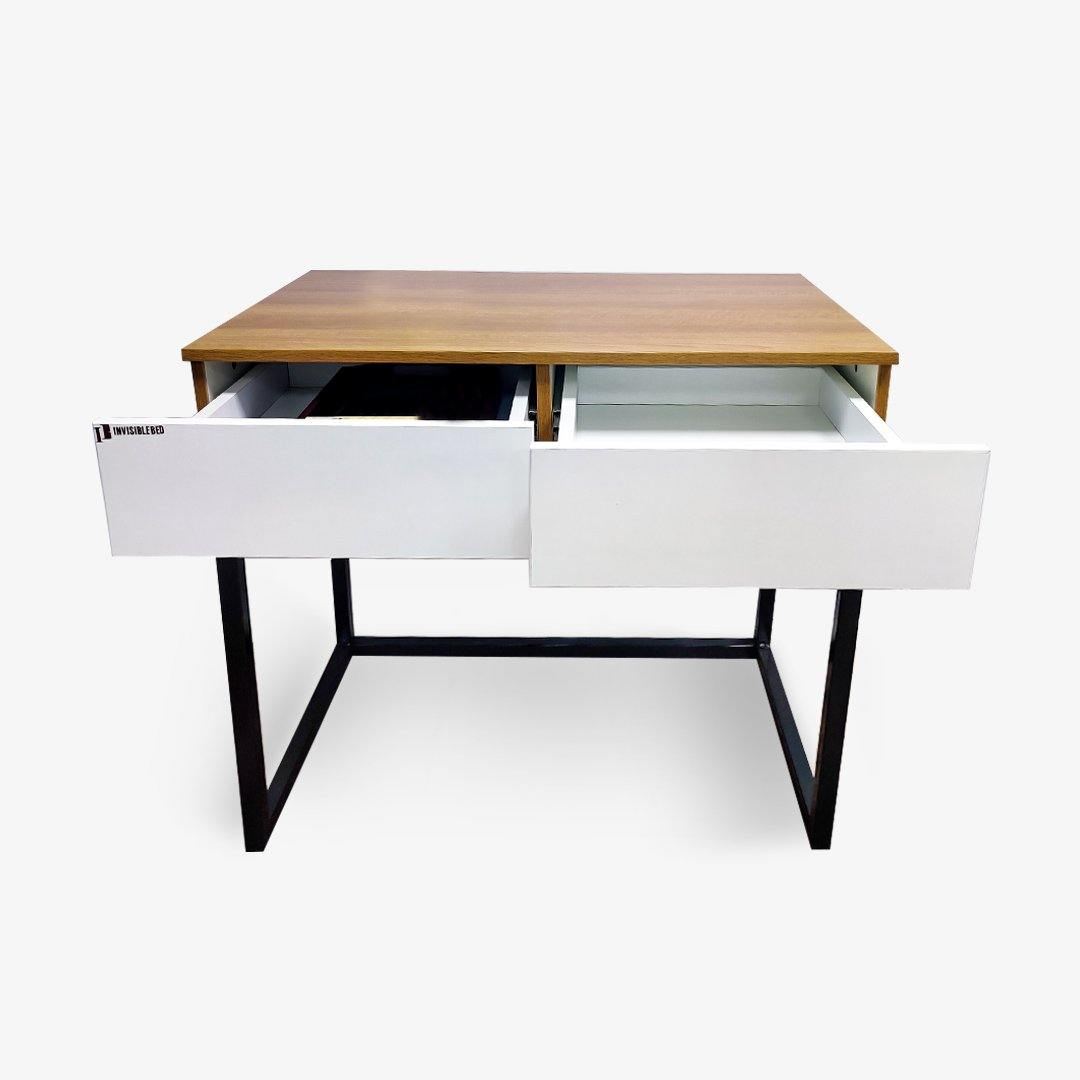 Minimalistic Work Table With Storage - InvisibleBed.com