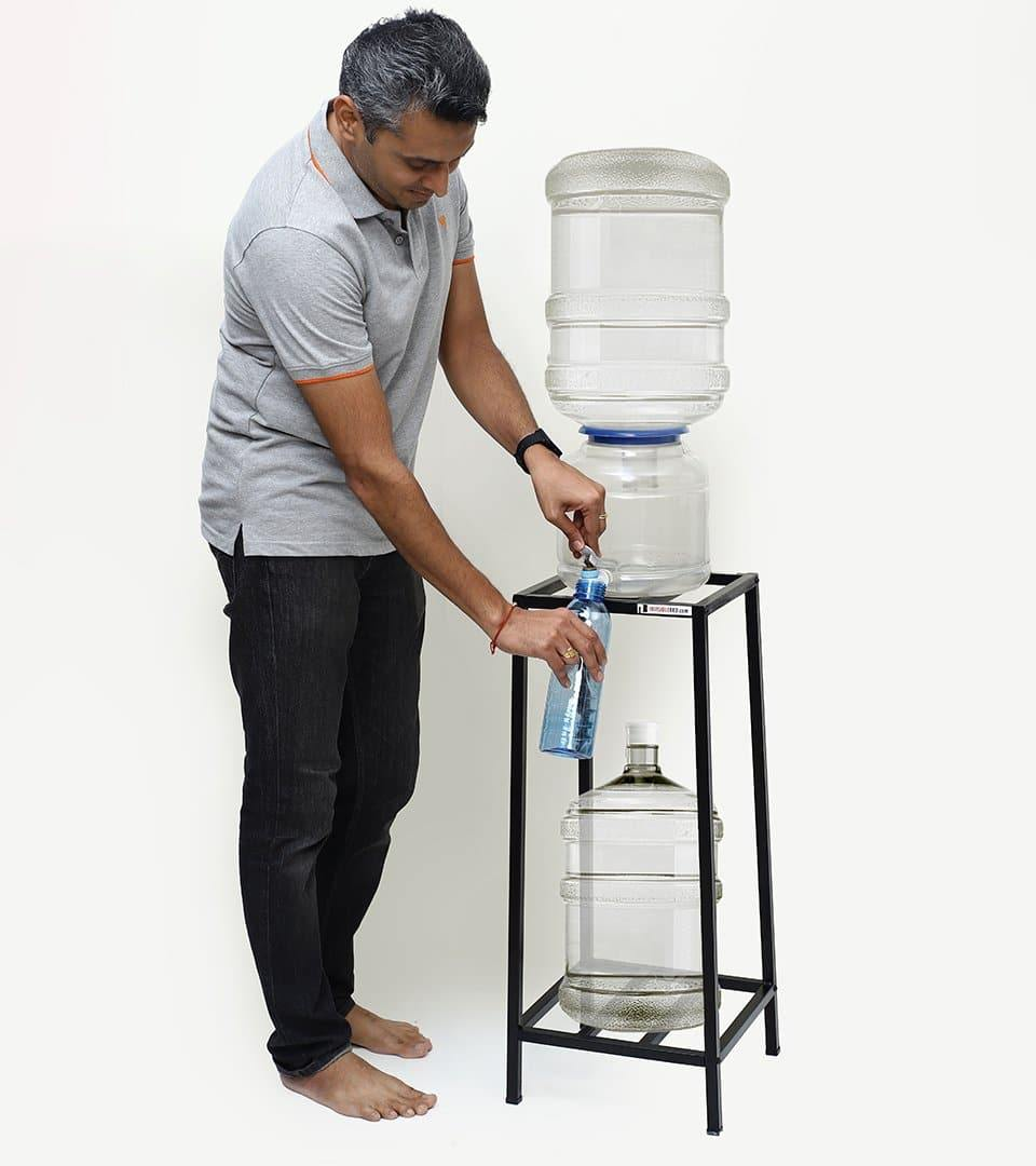 Metal Water Can Dispenser with Storage Stand