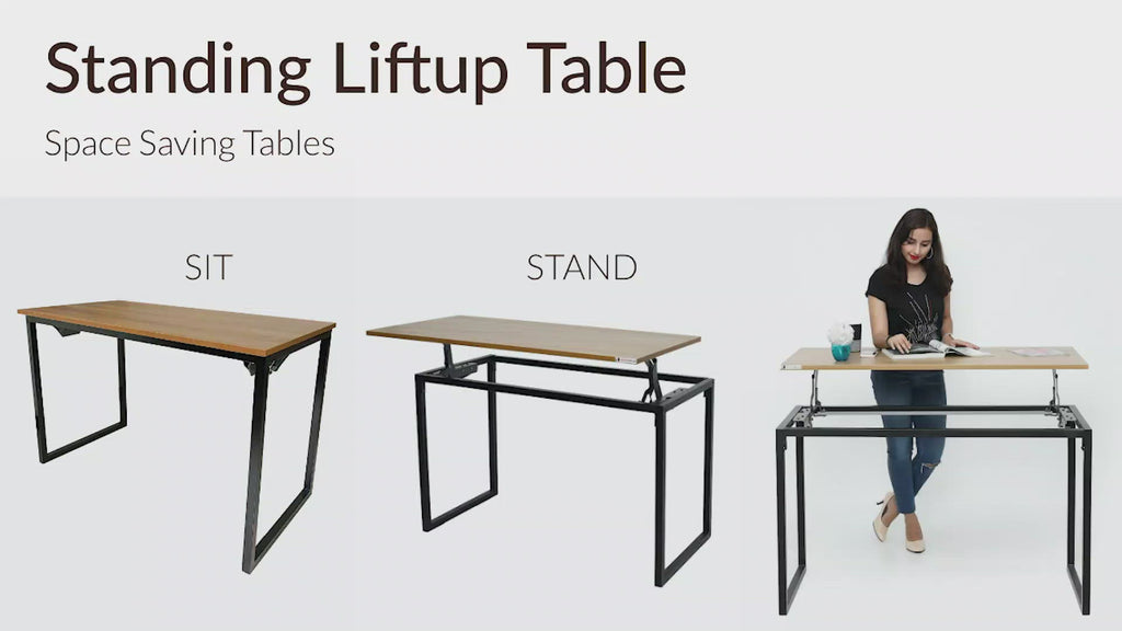 Color_Desert Walnut | Standing Lift Up Table