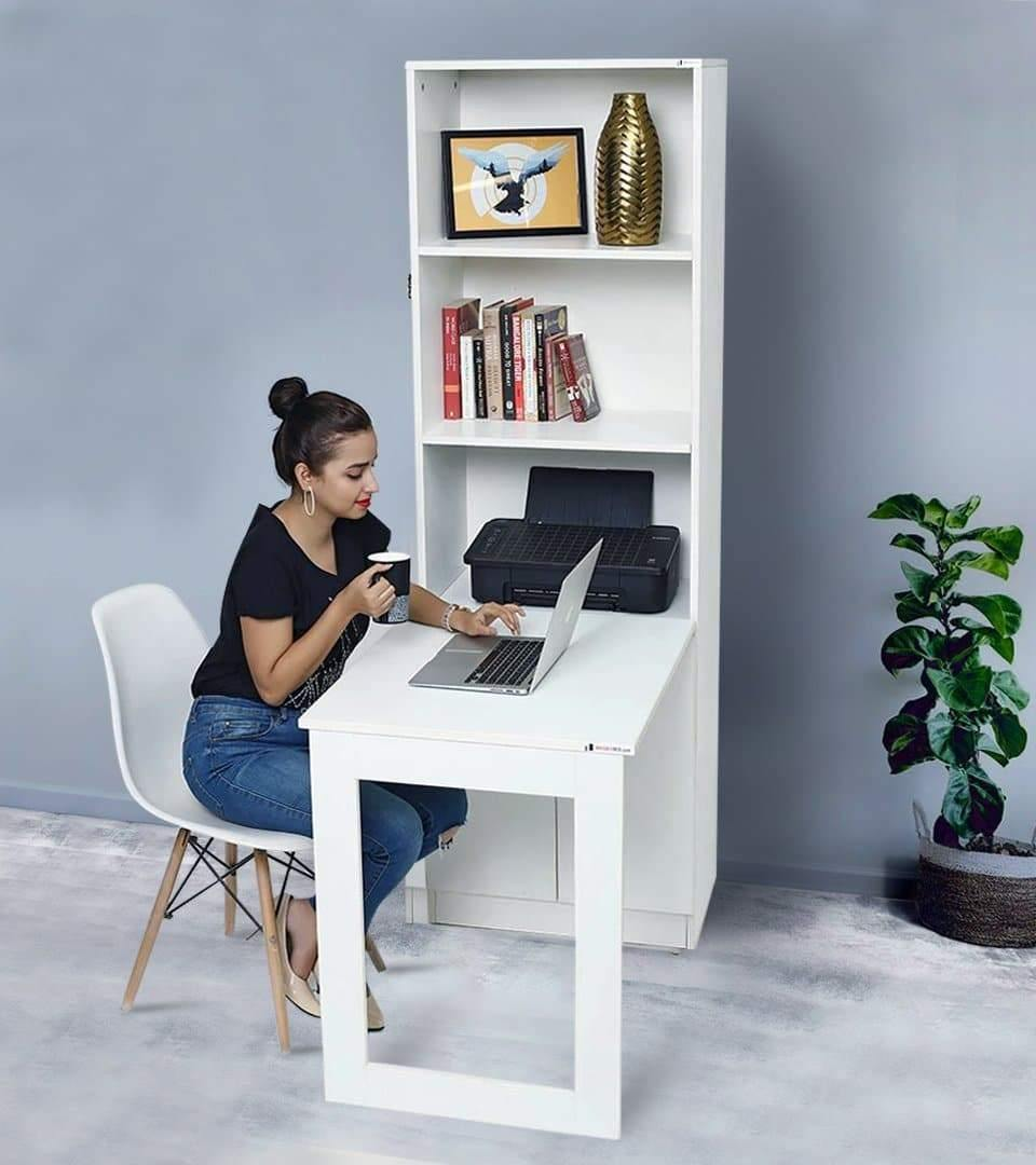 Medium Floor Standing Foldable Study/ Kids / Dining Table with Storage.