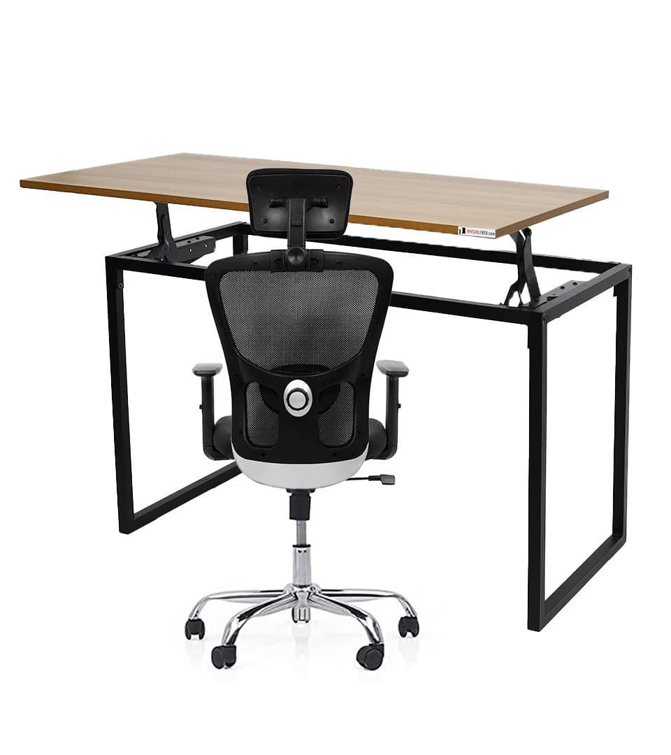 Combo of Standing Liftup Table  +  Ergonomic Chair With Lumbar Support