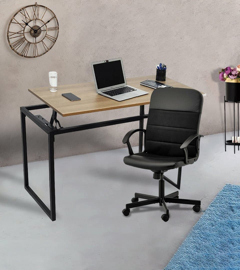Combo of Standing Liftup Table  + Renberget Swivel chair