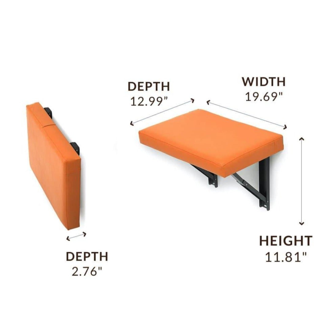 Foldable Wall Mounted Cushion Seat