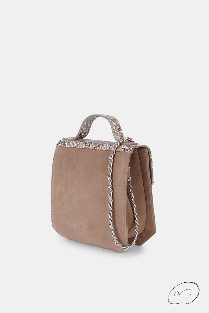 BOLSO HEXÁGONO TAUPE