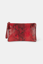 CLUTCH SNAKE ROJO UPCYCLED