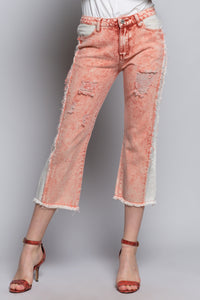 Red Stone Distressed Jeans