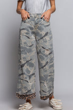 Load image into Gallery viewer, Camo & Leopard Cuff Jeans