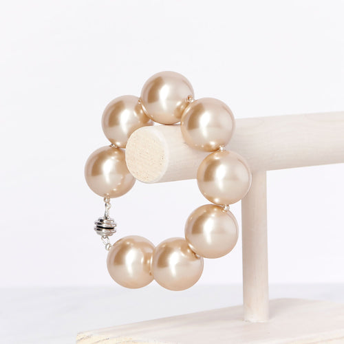 Hot Girl Pearls Bracelet - Champagne