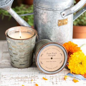 Front Porch Marigold Olive Bucket Candle