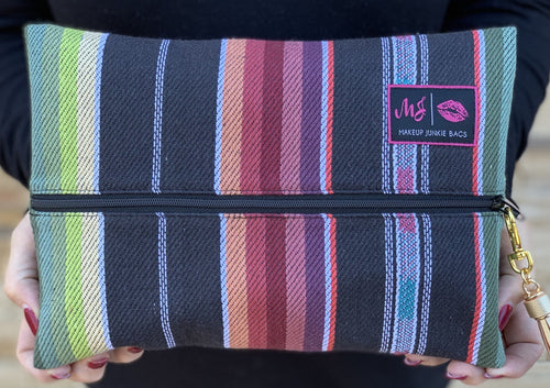 Subtle Serape Makeup Junkie Bag