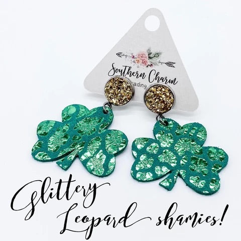 Green Shamrock Earrings
