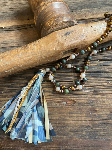 Camouflage Tassel Necklace