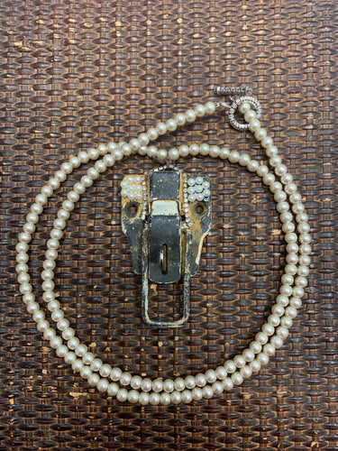 Vintage Latch Pearl Necklace