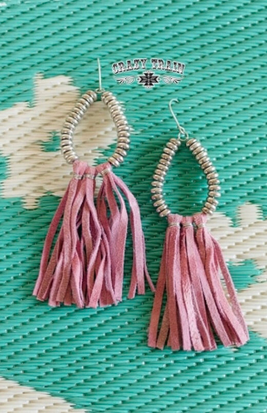 Blush Fringed Earrings