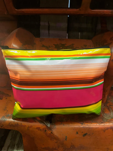 Serape Oil Cloth Zip Pouch