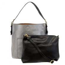 Load image into Gallery viewer, Pewter Hobo 2-in-1 Handbag