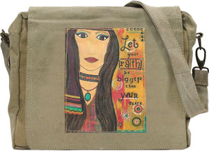 Let Your Faith Tent Crossbody Bag