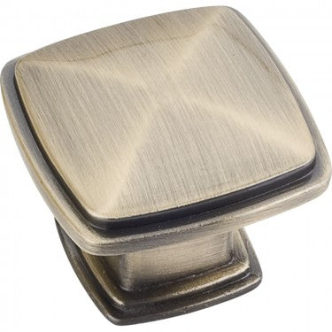 Milan 1 1-3/8 Inch Square Cabinet Knob