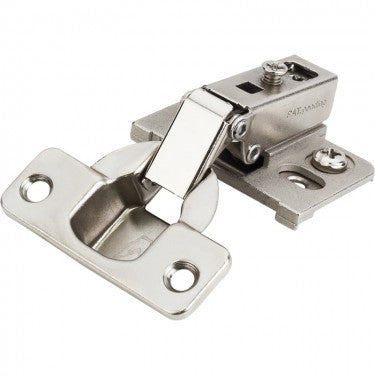 Chrome 22855 Series 1/2 Inch Overlay Adjustable Concealed Euro Hinge with 125 Degree Opening Anglefor Face Frame Cabinets - Single Hinge