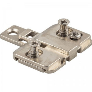 Polished Nickel 500 Series Mounting Plate with 3mm Height Adjustment for Concealed Euro Hinges - Single