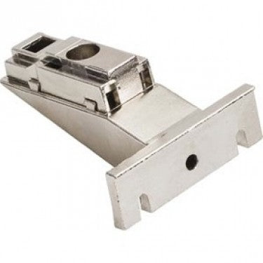 Polished Nickel 500 Series Clip On Mounting Plate with 9mm Height Adjustment for Concealed Euro Hinges on Face Frame Cabinets - Single