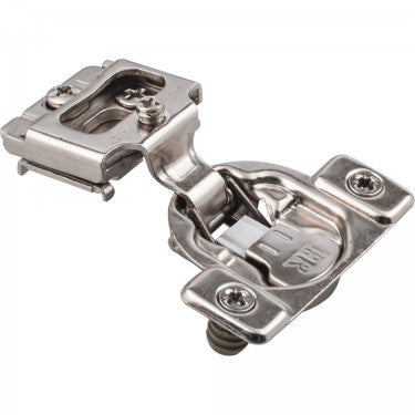 Polished Nickel 5390 Series 3/4 Inch Overlay Adjustable Concealed Euro Hinge with 105 Degree Opening Angle and Soft Close - Single Hinge