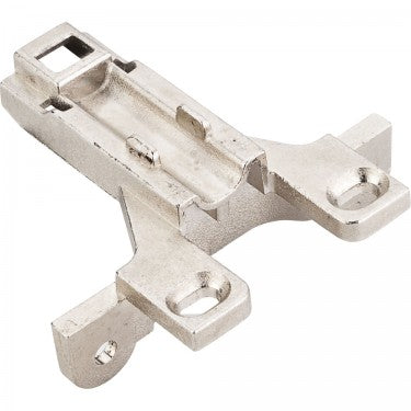 Polished Nickel 700 Series Clip On Mounting Plate with 3mm Height Adjustment for Concealed Euro Hinges - Single