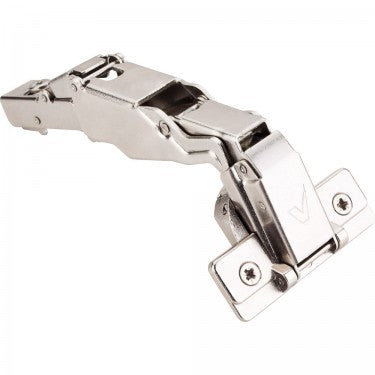 Polished Nickel 700 Series Full Overlay Adjustable Concealed Euro Hinge with 165 Degree Opening Angle and Soft Close - Single Hinge