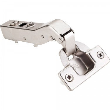Polished Nickel 700 Series Partial Inset Adjustable Concealed Euro Hinge with 105 Degree Opening Angle and Soft Close - Single Hinge