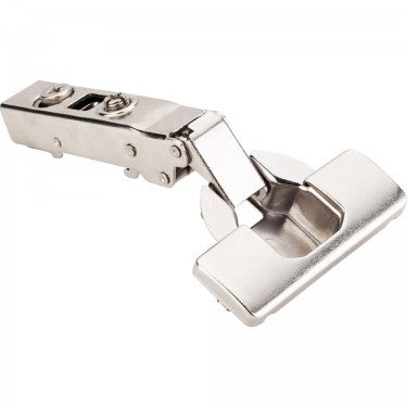 Polished Nickel 700 Series Full Overlay Adjustable Concealed Euro Hinge with 125 Degree Opening Angle and Soft Close - Single Hinge