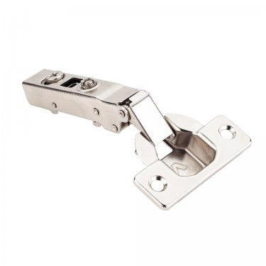Polished Nickel 725 Series Full Overlay Adjustable Concealed Euro Hinge with 125 Degree Opening Angle and Soft Close - Single Hinge