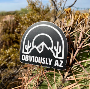 ObviAZ Logo Sticker - Black & White - Obviously Arizona