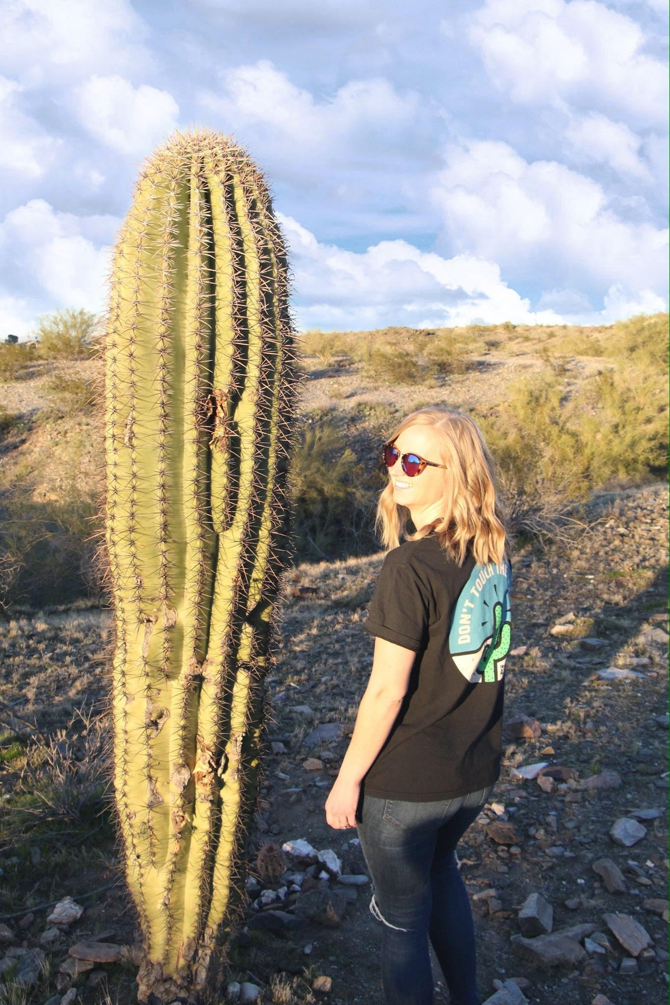 Don't Touch The Cacti - Short Sleeve - Black - Obviously Arizona