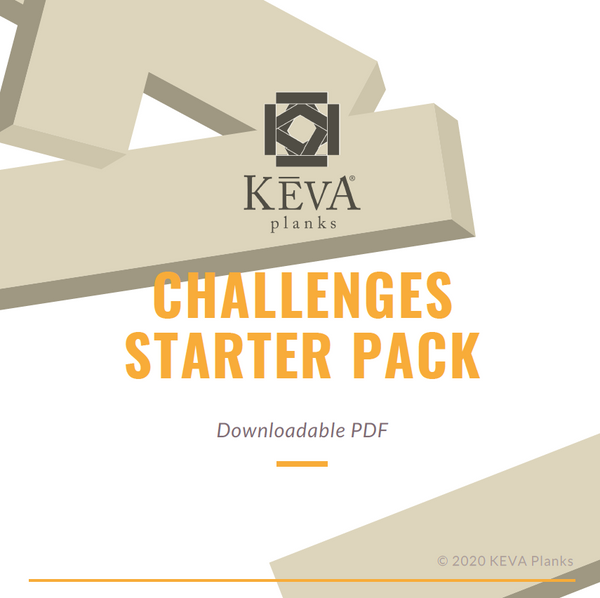Downloadable PDF: KEVA Challenges Starter Pack - kevaplankscom