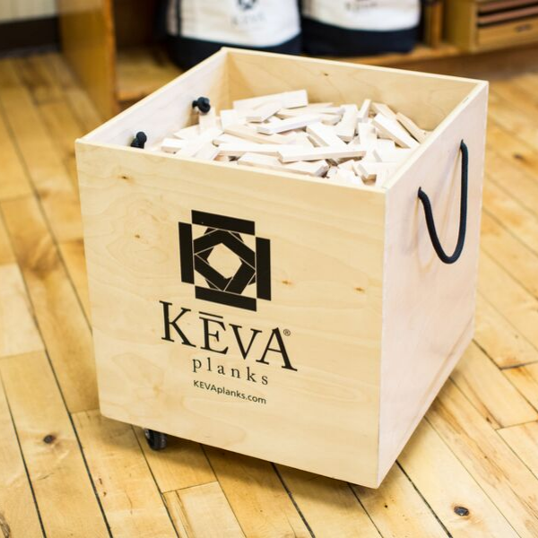 KEVA Maple 1,000 with DuraFlex Bin - kevaplankscom