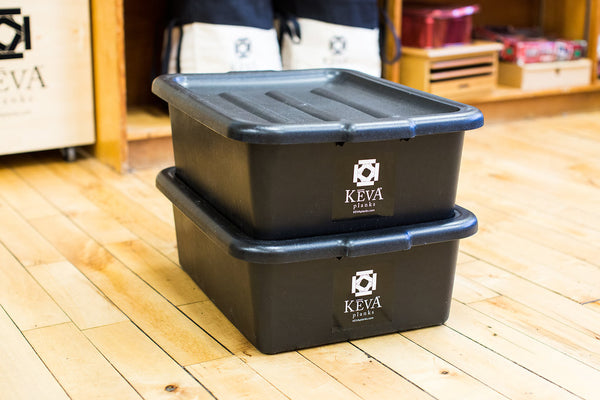KEVA Maple 800 with Plastic Tubs - kevaplankscom