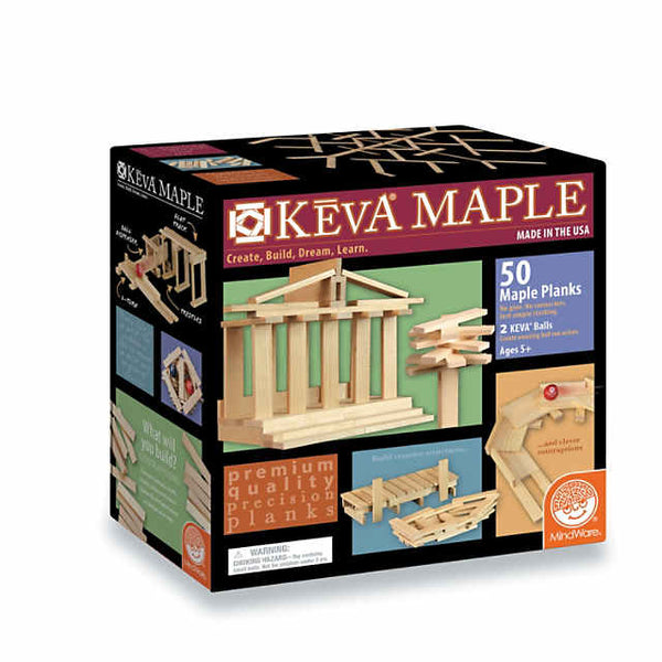 KEVA Maple: 50 Plank Set - kevaplankscom