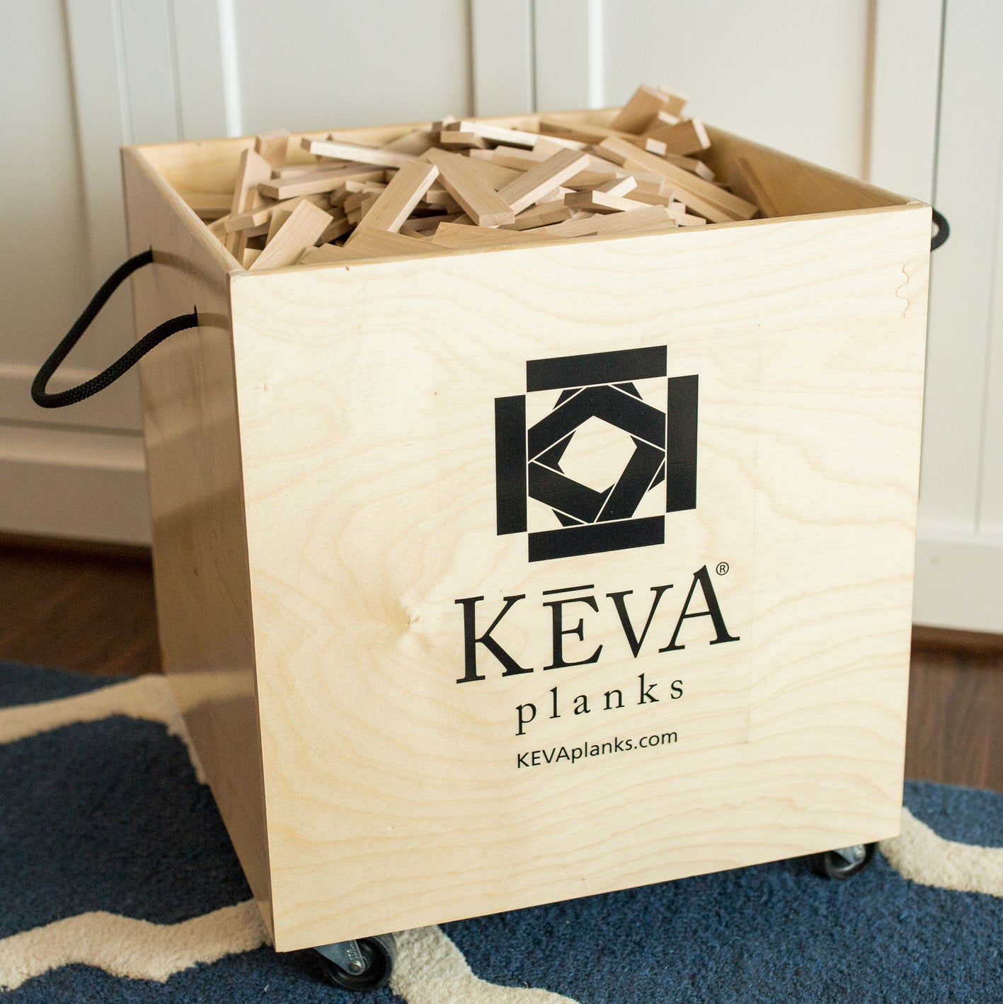 KEVA Maple 1,000 with Birch DuraFlex Bin - kevaplankscom