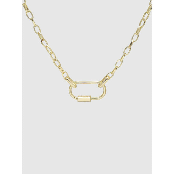 Chain & Lock Choker Necklace - abby+anna's boutique