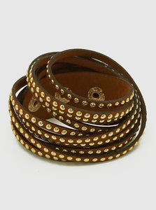 Leatherette Wrapped Bracelet - abby+anna's boutique