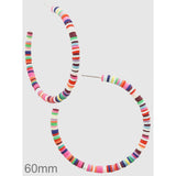 Multi Colored Clay Bead Hoop Earrings - abby+anna's boutique
