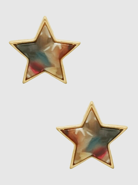 Acetate Star Earrings - abby+anna's boutique