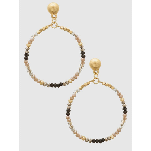 Faceted Bead Drop Earrings - abby+anna's boutique